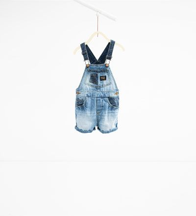 Short denim dungarees-SHORTS-BABY BOY   3 months-3 years-KIDS   ZARA United Kingdom