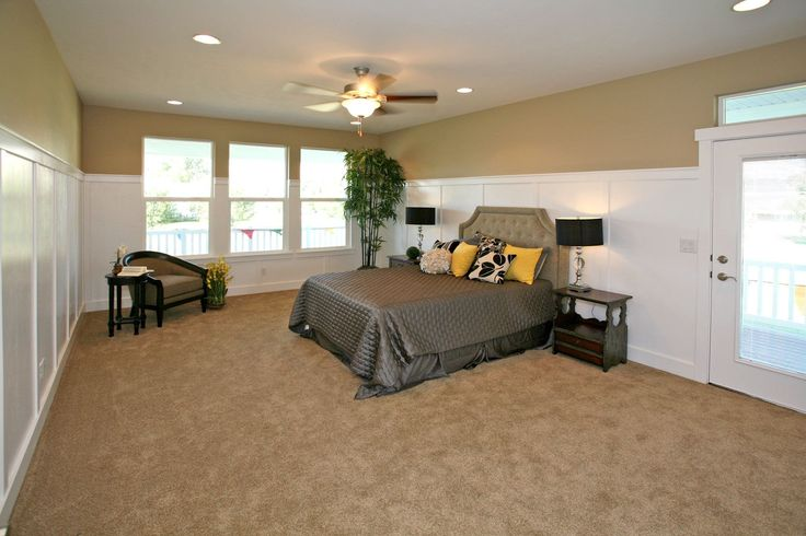 Master bedroom with private covered deck.