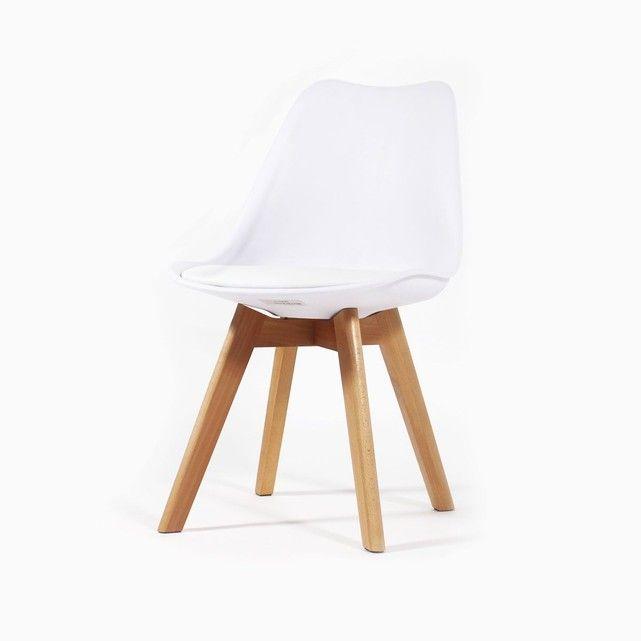 Chaise Scandinave A Coussin Blanche Pietement Hetre Mia3 Made In Meubles Cette Superbe Chaise Scandinave Bla Chaise Chaise Salle A Manger Mobilier De Salon