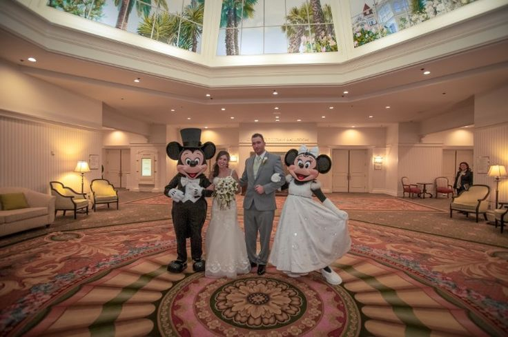 Fairytale Lake Buena Vista Wedding at Disney's Grand Floridian Resort and Spa, FL  Not much is better than Mickey and Minnie at your wedding!   Photographer:  Our Day Wedding Photography