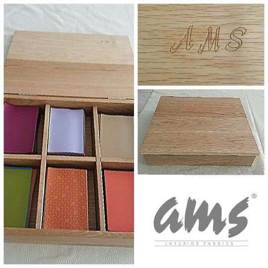 Box with faux leather samples ||| by ams