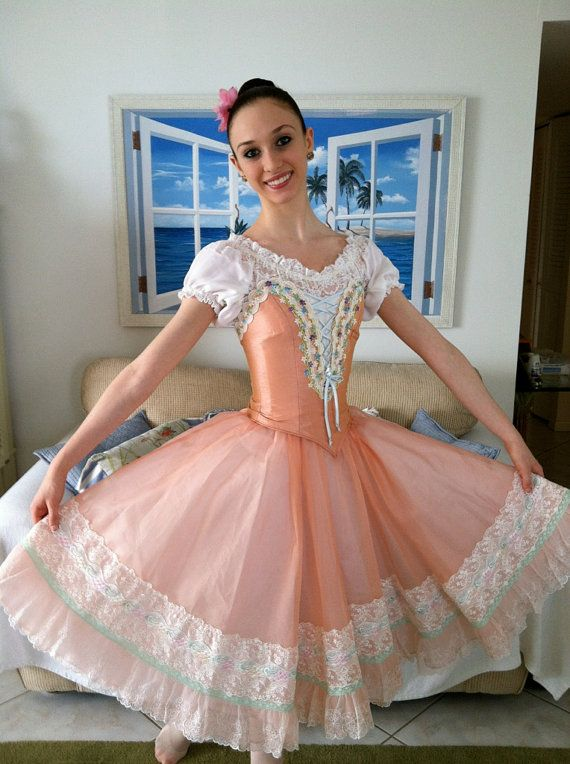 Peach Swanhilda costume for the ballet Coppelia by EnPointeTutus, $1000.00