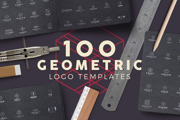 100 Geometric Logos Set by Zeppelin Graphics on @creativemarket