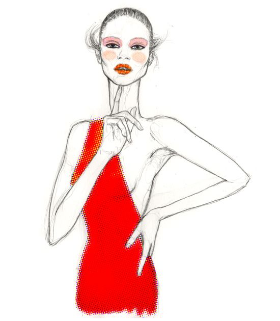 Un elegante vestido asimétrico ilustrado por Loreto Binvignat 〰www.LoretoBinvignat.com 🔎#talentochileno #fashionblog #difundimosmoda Eliminar comentario