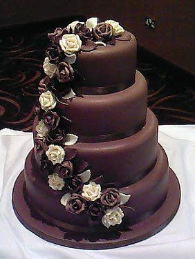 Chocolate Wedding Cake ~ Wedding Bells
