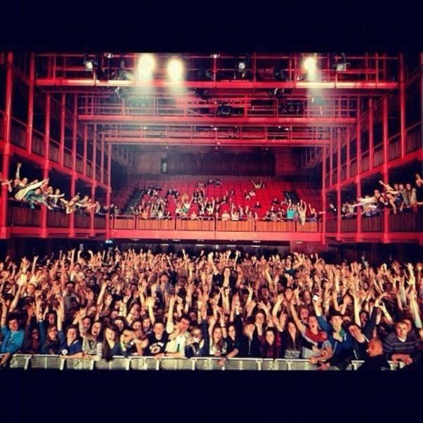 Anciennes Belgique is een concert zaal waar bijna dagelijks concerten zijn, elke stijl van rock tot rap