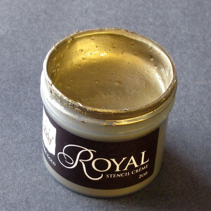 Stencil Paint | Stencil Creme Antique Gold | Royal Design Studio. Can't wait to try