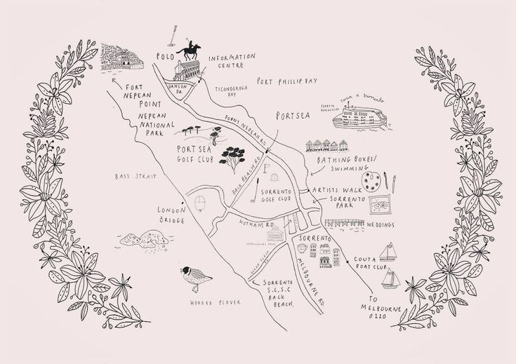 "394 Likes, 1 Comments - Ryn Frank (@rynfrank) on Instagram: ""Map designed for Stonecutters house, a beautiful guest house in Sorrento #map #illustration…"""