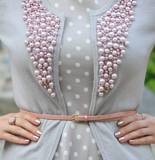 Glam Radar   12 DIY Embellished Outfit Ideas Style up front with pearls, stones or beads!