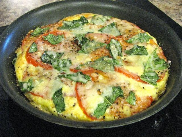 ... summertime frittata with artichoke tomato basil pesto frittata