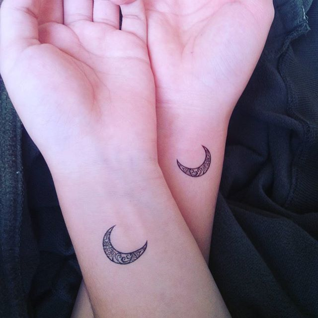 Pin for Later: 37 Matching Tattoos For Couples Who Want to Make a Small Statement Crescent Moons