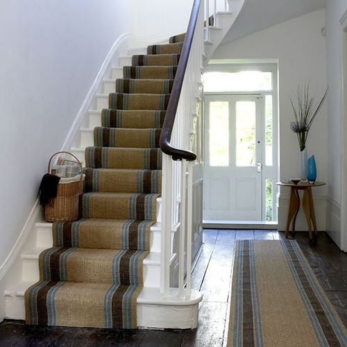 stripe stairs carpet
