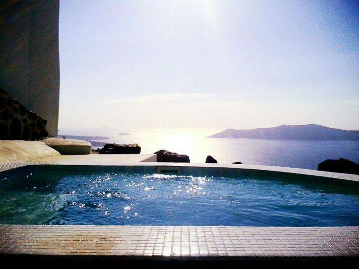 The sun shines bright!!!! Smells like summer here... @ Rocabella deluxe suites & spa Santorini !!!