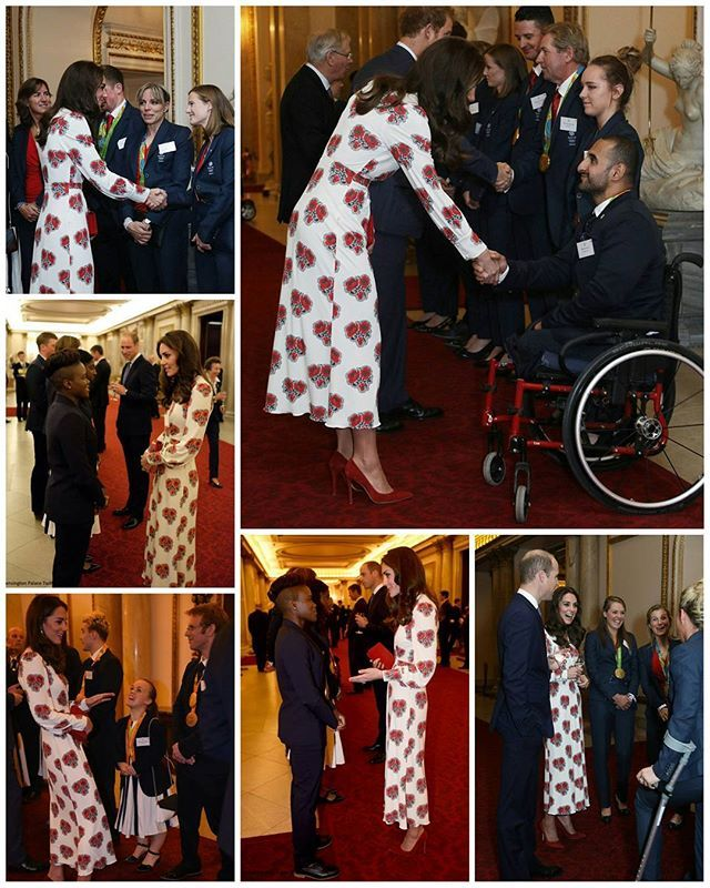 Yesterday, The Duke and Duchess of Cambridge and Prince Harry attended a reception hosted by the Queen and Prince Philip for Team GB and Paralympics GB medallists from the 2016 Rio Olympics and Paralympic Games at Buckingham Palace. The Duchess chated with Nicola Adams MBE - the first woman to win an Olympic boxing title. Other royals in attendance included the Princess Royal, who is president of the British Olympic Association, the Duke of York, the Duke of Kent and the Duke and Duchess of…