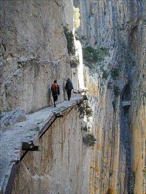 Edge of the Cliff, El Caminito del Rey, Malaga (Spain)