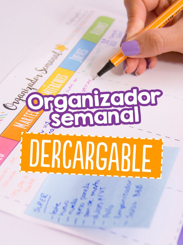 Tips para organizar tu semana: Organizador Semanal ~ Craftingeek