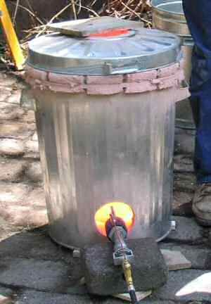Garbage can raku mxs conversion. Obviously you couldn't do this with middle schoolers but I want to pin this for later.