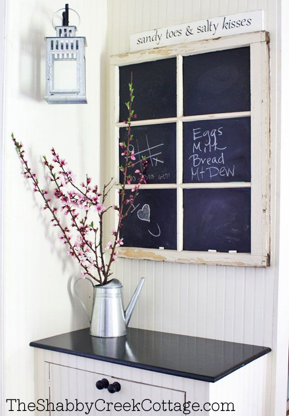 How to Make a Chalkboard Window...just the right amount of chalkboard for me!