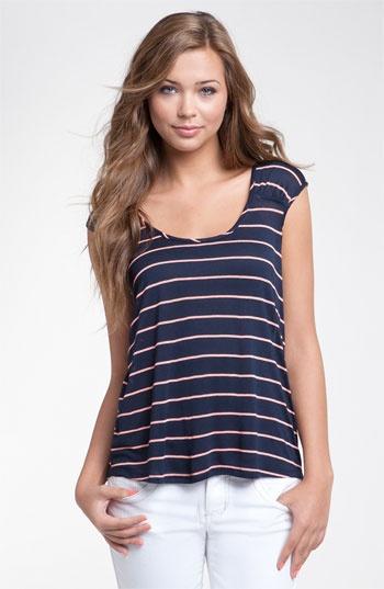 Stripes + navy + comfy = yay!