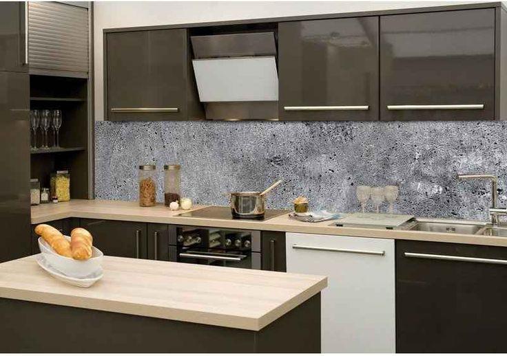 DIMEX | KI-260-064 Fototapeta do kuchyně Beton | 260 x 60 cm | šedá