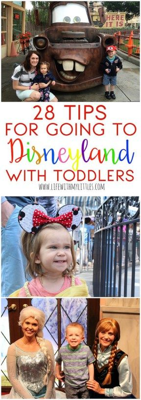 28 tips for going to Disneyland with toddlers. These are such amazing, helpful tips! I never would have thought of half of these! These are great ways to have fun with toddlers at Disneyland!