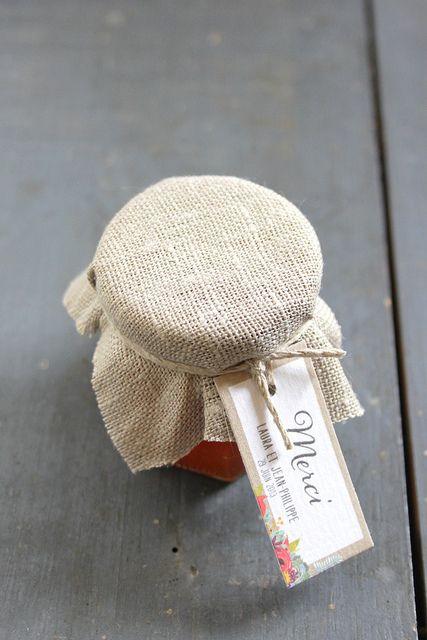 ©La mariee aux pieds nus - Cadeau d'invite - Pot de confiture