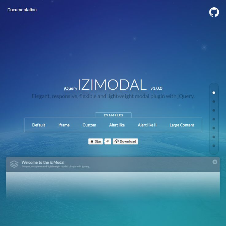 Elegant, responsive, flexible and lightweight modal plugin with jQuery.