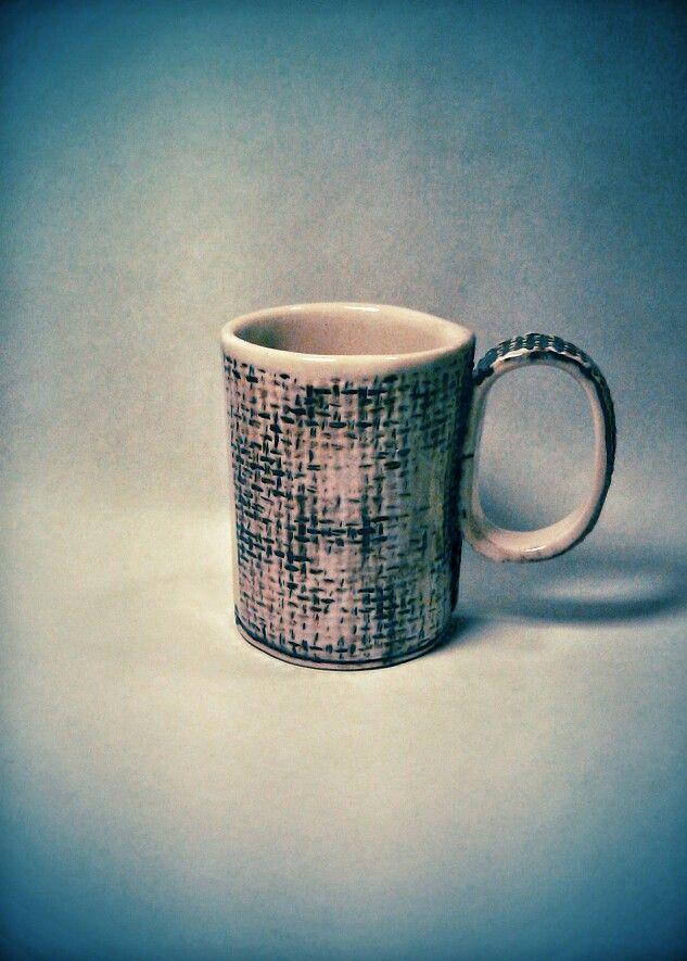 Tacita para un café, gres, óxidos y esmalte. CMSR