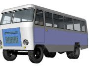 Kuban G1A1 Bus Free Vehicle Paper Model Download