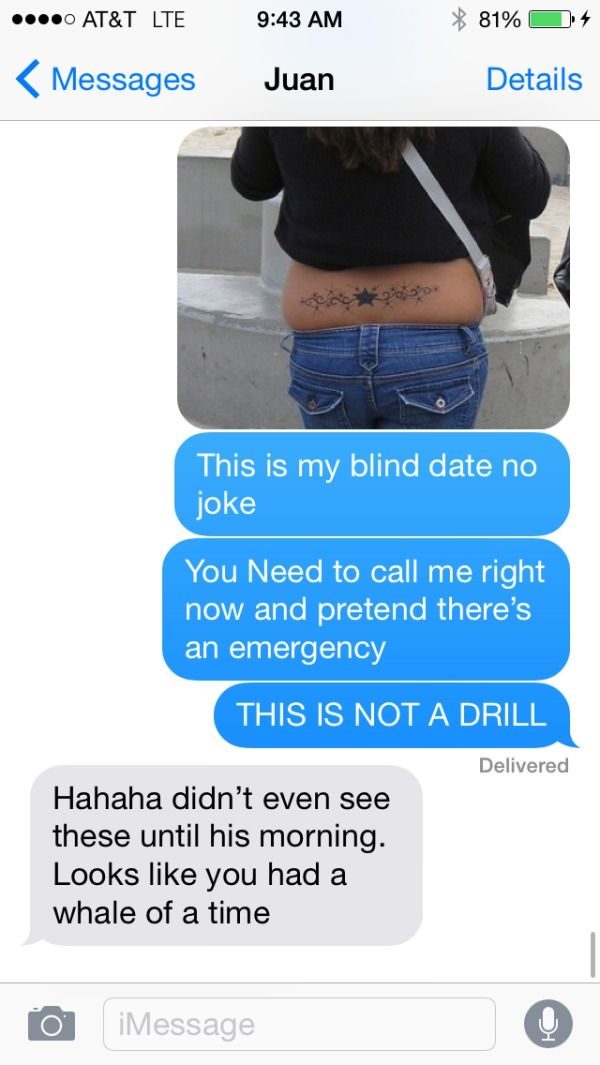 Funny dating texts