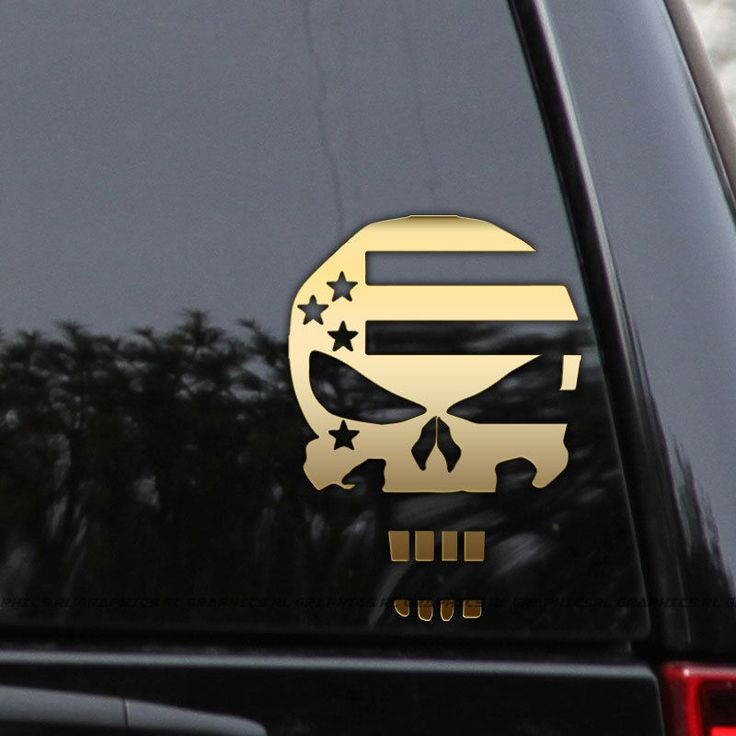 American Flag Punisher 2nd Amendment NRA Car Truck Window Laptop Decal Sticker #Oracal