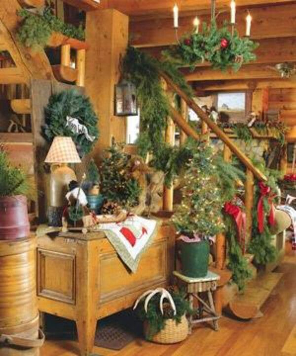 19 Log Cabin Home Décor Ideas: Believe In The Magic Of Christmas