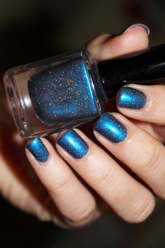 Holographic glitter nail polish - 'Fall Breeze'