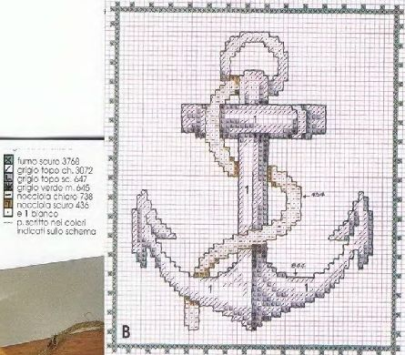 Cross-stitch Anchor