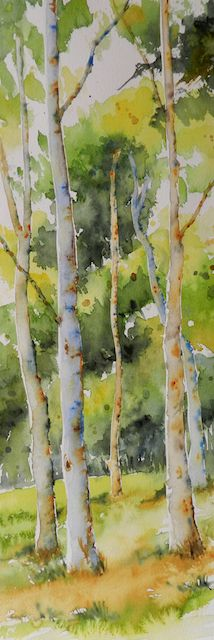 "by Cristina Dalla Valentina - Secret Corner - watercolor on paper - 17,3"" x 5,9""  Angolo segreto - acquerello su carta - 44 x 15 cm"