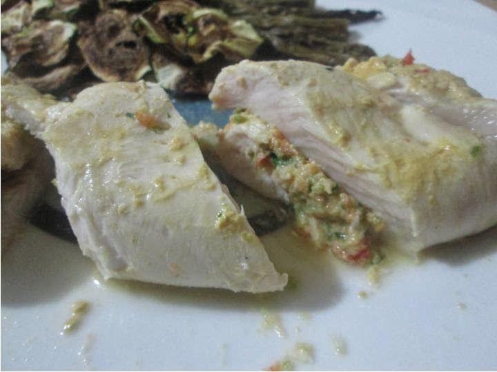 Cozinhando com a Yämmi: Peitos de Frango Recheados com Pimentos