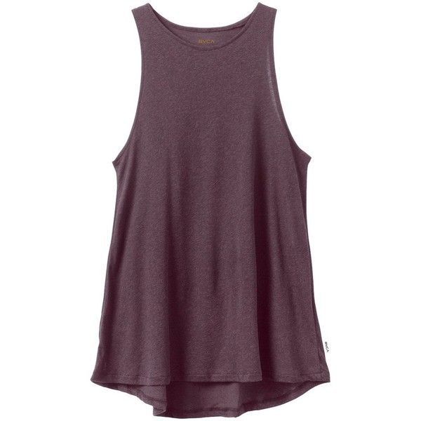 RVCA Label High Neck Tunic found on Polyvore featuring tops, tunics, rvca, purple tunic, relaxed fit tops, rvca tops and high neck top