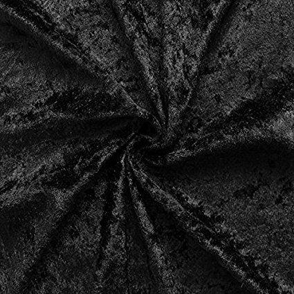 Black Crushed Velvet Fabric by Stoffkontor