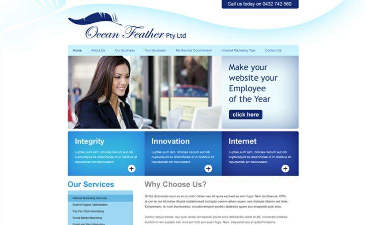 Website design for Ocean Feather. #websitedesign #webdesign #web #design #graphicdesign #website #websites