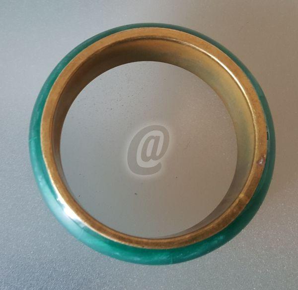 Magazin » Bratara verde cu cupru, 6.8 cm de