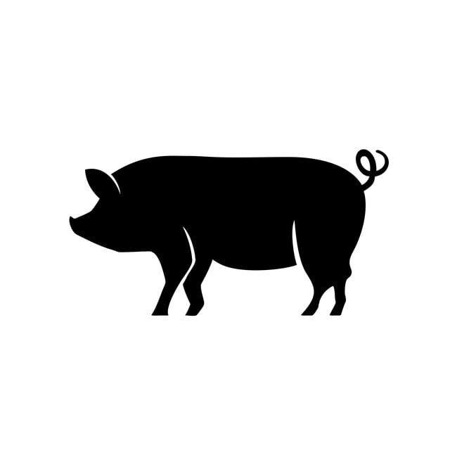Vector De Icono De Diseno De Logotipo De Cerdo Pig Logo Pet Logo Design Animal Logo