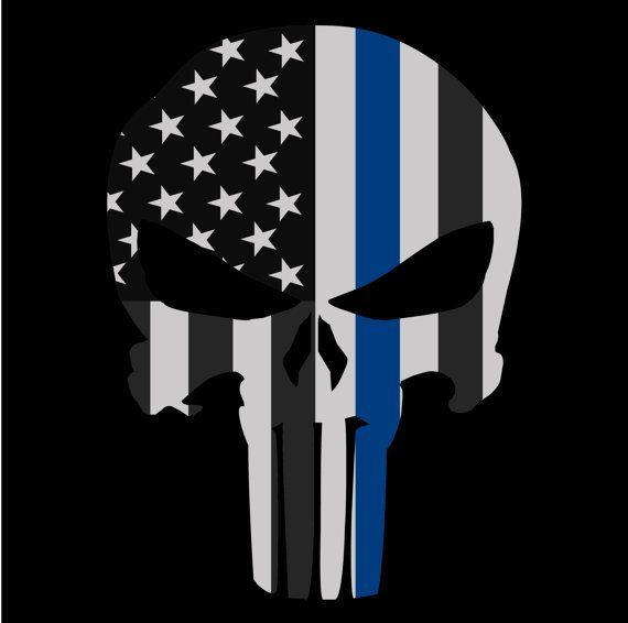 27d21664b Punisher Skull American Flag Police Blue Line Decal Sticker Graphic - 5  Sizes | Products | Punisher skull american flag, Punisher skull, Punisher