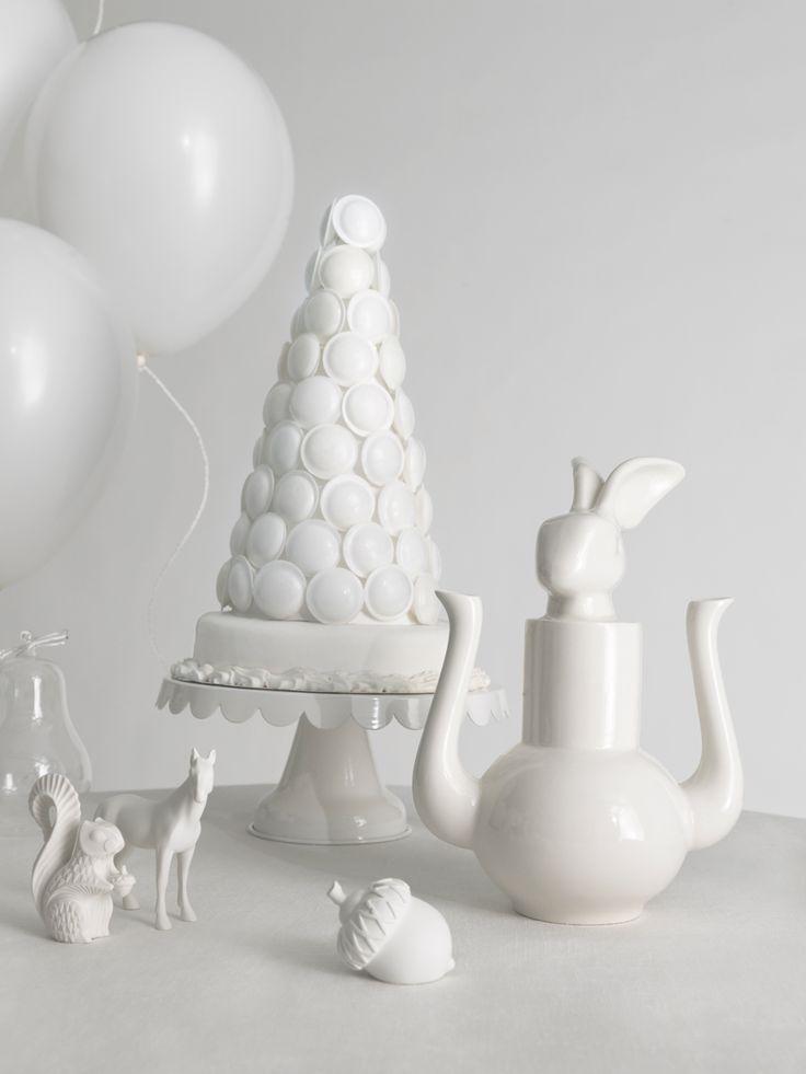 White white Christmas.  via Video-ga-ga – Set designer - Work - Portfolio