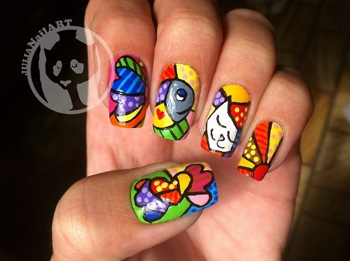 inspired by Romero Britto #nail #nails #nailart