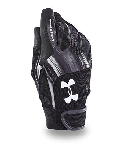 HeatGear® on back of hand adds superior moisture management and 4-way stretch. Digital embossed synthetic overlays add support, structure, and grip without losing flexibility. Goatskin leather palm de