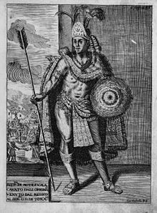 Moctezuma II (c. 1466 – 29 June 1520), also known by a number of variant spellings including Montezuma, Moteuczoma, Motecuhzoma and referred to in full by early Nahuatl texts as Motecuhzoma Xocoyotzin (Moctezuma the Young),[N.B. 1] was the ninth tlatoani or ruler of Tenochtitlan, reigning from 1502 to 1520.