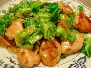 「鶏むね肉と春キャベツのポン酢炒め」ごはんにもおつまみにも♥【楽天レシピ】