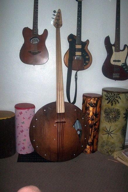 Upright 4 String Washtub Bass | Home Made instruments ...