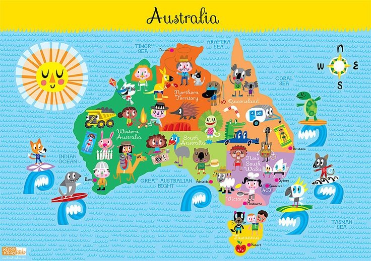 Kids Australia Map #World Thinking Day                                                                                                                                                                                 More