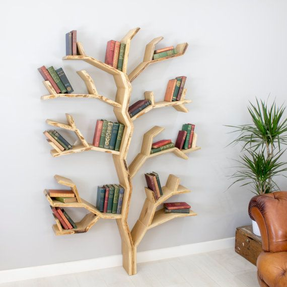 Elm Tree Bookshelf 1.8m high by 1.2m wide **Our New Tree Shelf Design**